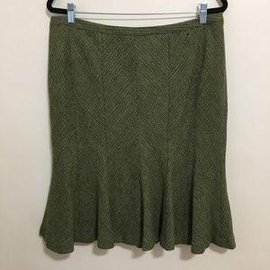LANE BRYANT wool blend tweed pleated skirt AA12